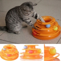 Трек С мячиками для кошек crazy amusement plate